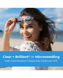Clear + Brilliant® or Microneedling with your choice SkinMedica® Essential Defense SPF